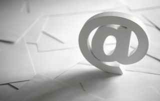email symbol on business letters