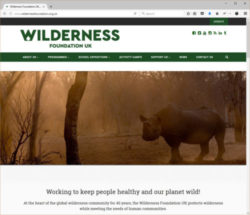 Screenshot of the Wilderness Foundation UK website