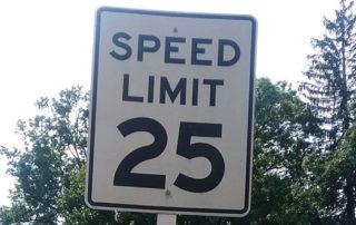 sign speed limit 25